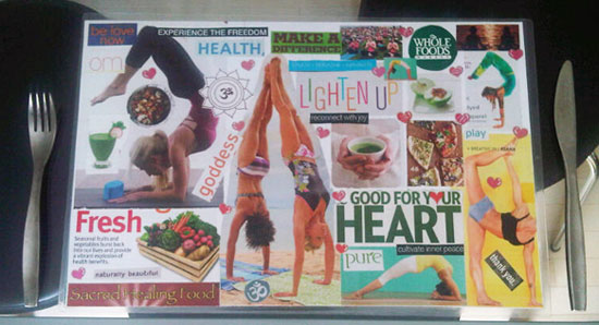 How To Make A Vision Board Place Mat Intuitive KB